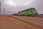 BNSF 2809 and BNSF 2128 Unload Rail